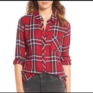 NWT Rails hunter plaid shirt red checked button up